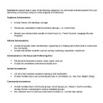 Microsoft Scholarship Resume Outline