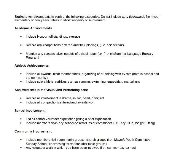 Scholarship Resume Template: Microsoft Scholarship Resume Outline.jpeg