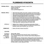 Modern Resume Template PDF Free Download