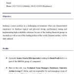 oracle dba resume - Oracle Dba Resume