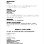 PDF Printable Medical CV Template