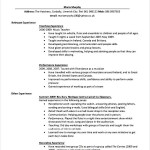 PDF Printable Teaching CV Template
