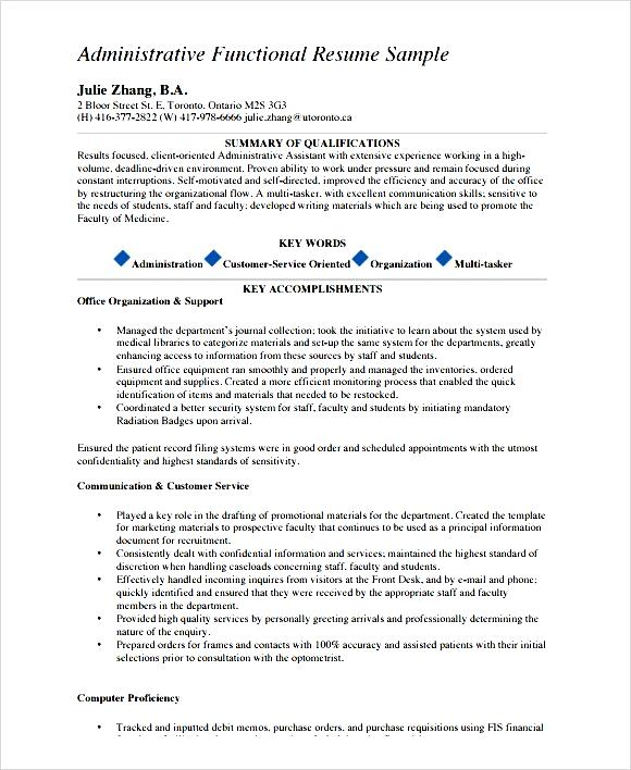 pdf sample functional cv template
