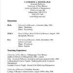 PDF Sample Teaching CV Template
