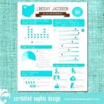 Personalized Info graphic Resume Design
