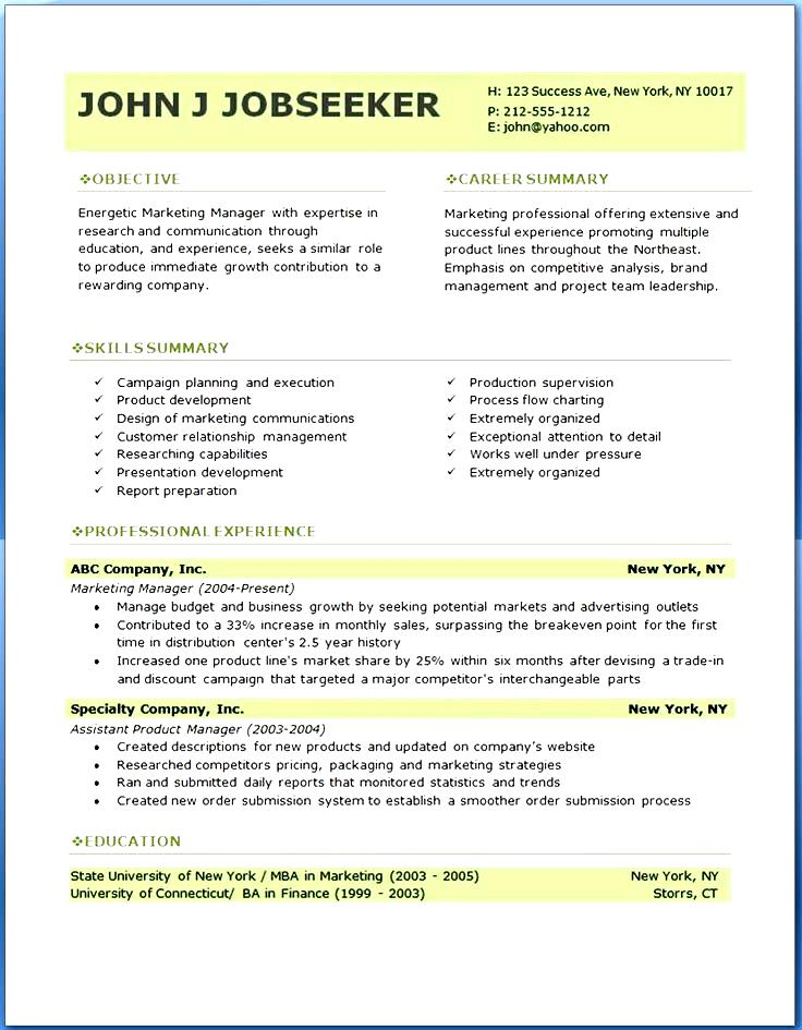 professional resume templates sample