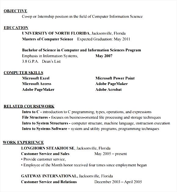 resume format for internship student free sles