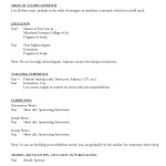 Resume Template for Tutoring Job Sample