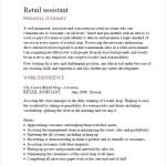 Retail Assistant Cv Template PDF