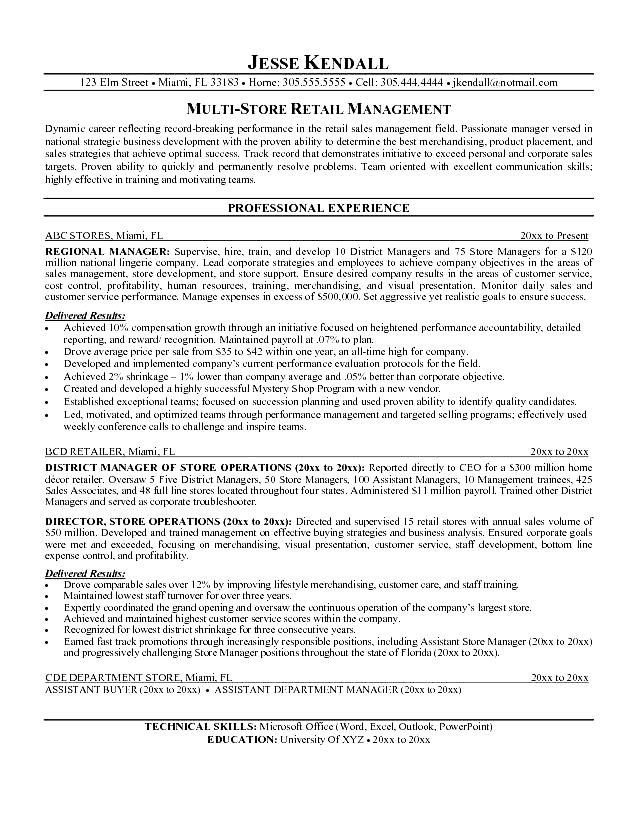 retail manager resume template retail management resume sample free samples examples 24493