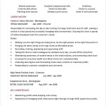 Retail Manager Resume Template  PDF