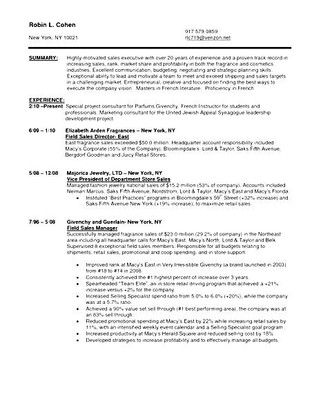 Sales Associate Resume Sample Free Samples Examples