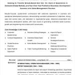 Sales & Management Career Profile Template
