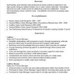 Sales Manager Sample Resume Panoramic Resume PDF