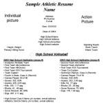 Sample Athletic Resume