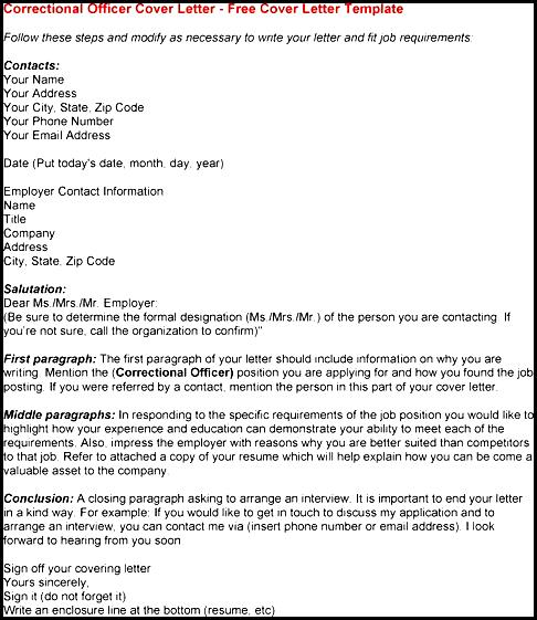 Amazing Correctional Officer Cover Letter Images - Best Resume ...