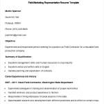 Sample Field Marketing Representative Resume Template