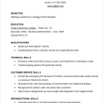 Sample Free Functional Resume Template