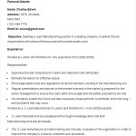 Sample Lean Manufacturing Resume Template