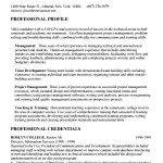 Sample MBA Resume Template Free