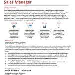 Sample Manager Resume Format