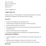 Sample Manufacturing Project Manager Operations Resume Template