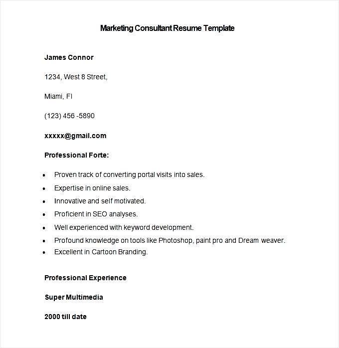 sample marketing consultant resume template free samples. Black Bedroom Furniture Sets. Home Design Ideas