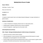 Sample Marketing Director Resume Template