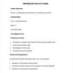 Sample Marketing Intern Resume Template