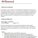 Sample PHP Developer Resume Template