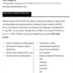 Sample Resume Database Administrator