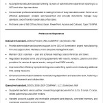 Sample Resume Template for an Executive Assistant