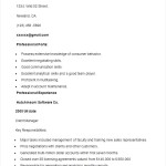 Sample Software Sales Resume Template