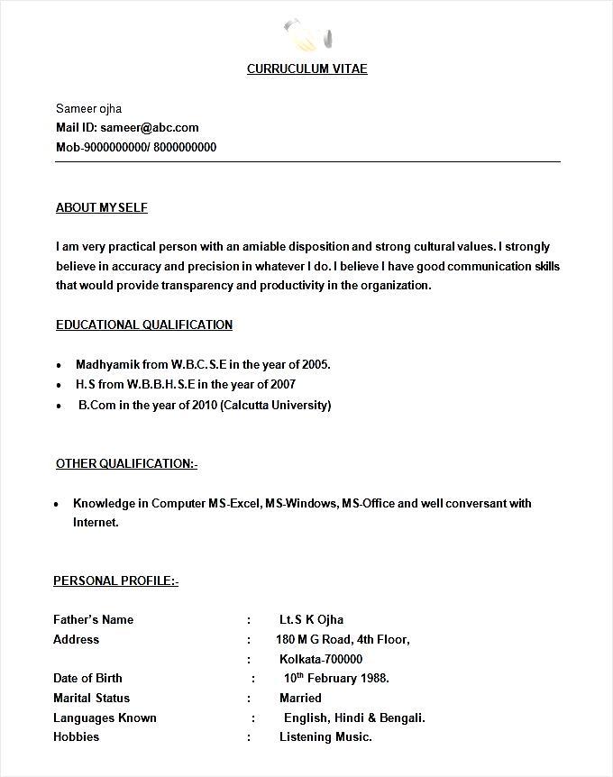simple bpo call centre resume template