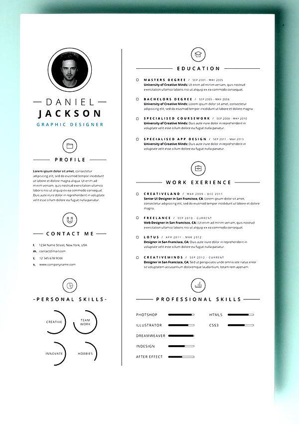 simple resume template vol4
