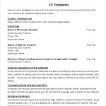 Simple Teaching CV Template