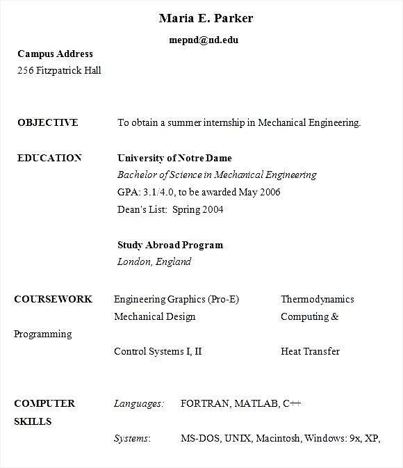 phd resumes