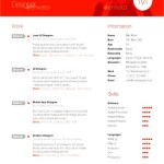 Swiss Resume PSD Format Template Download