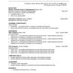Undergraduate Students Resume Sample
