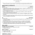 Warehouse Resume Skills Sample