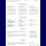 Web Designer Resume Template- PSD