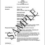 A Sample A Resume Or Curriculum Vitae