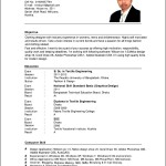 An Example Of A Curriculum Vitae