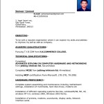 Curriculum Vitae Format Download