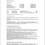Curriculum Vitae Format For Professor
