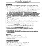 Curriculum Vitae Format For Teachers