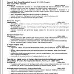 Curriculum Vitae Nurse Sample