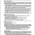 Curriculum Vitae Student Sample