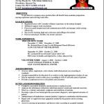 Curriculum Vitae Template Nursing