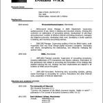 Curriculum Vitae Template Sample